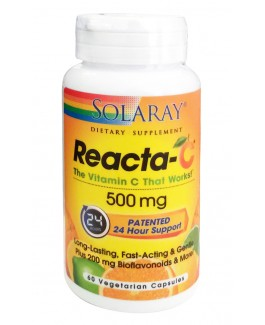 Reacta-C Solaray | Vitamina C NO ácida